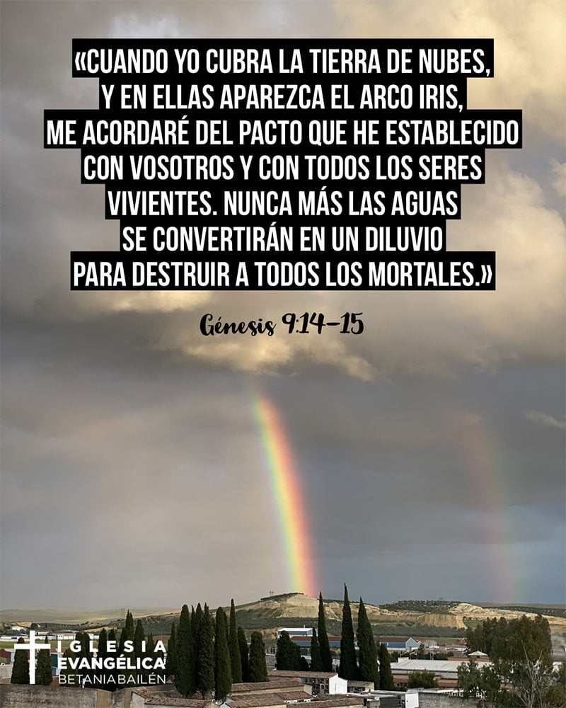 arco iris bailén versiculos génesis 9:14-15